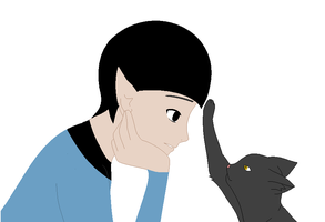 Spock's Kitty by YukiDemonKat