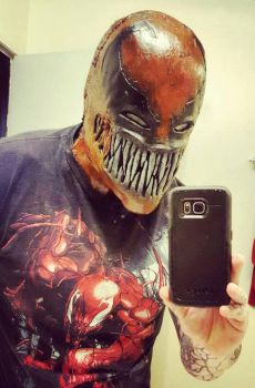 venompool mask  by symbiote-x