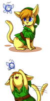 Kitty Link by CatsnCupcakes