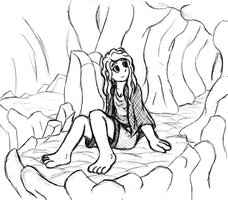 HTG 2 - Girl in Cave by GeminiShadows