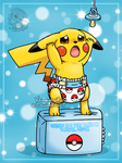 [Commission] Baby Pikachu can't reach his pacifier by Veemonsito
