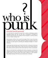 Who is Punk? by fourletterlie