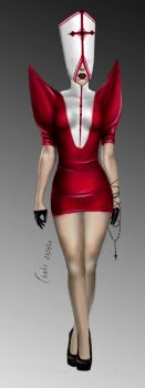 GAGA BLOODY PRIEST COSTUME by carlos0003