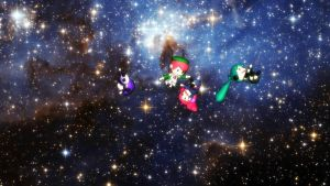Puppets in  Space by MochaMonet