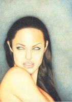 angelina jolie portrait by Esdras78