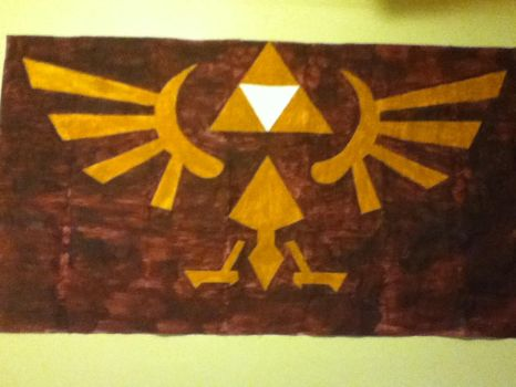 Giant Triforce Mural by VaanessaWindfall
