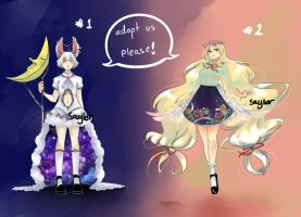 Adoptable Moon and Spring auction -closed- by Saylor-boo