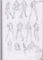 Sketches : Body Studies Male in Heels by Betterifimdeath
