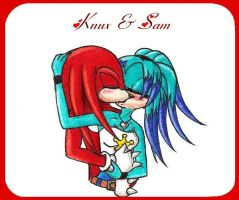 Knux and Sam .:kiss:. by TheMonica180