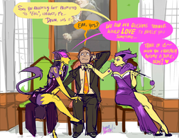 Meanwhile at the battle chateau by KennoArkkan