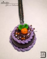 Peach Cake Necklace by 3timesC