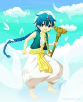 Magi Aladdin and rukh (Reloaded ver.) by Atsuky