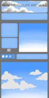 how to: clouds and skies by silvershadowhdgehog