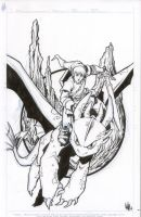 Link from Zelda riding Toothless by teamlattie
