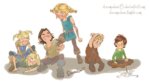 HTTYD: Berk Kids by DreamaDove93