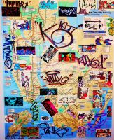 New York City Graffiti Art Subway Map by MF-minK