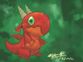 Red Baby Dragon by waymonds