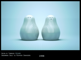 Azumi Pepper and  Salt Shakers by ZeroPointPolygon