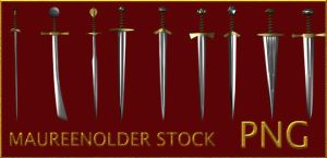 STOCK PNG swords play by MaureenOlder