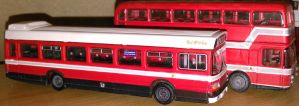 National Welsh Red and White buses by walesrallyart