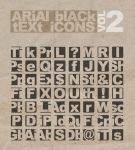 Arial Black Text Icons by likeOMFGitsJONNY