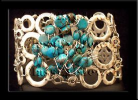 Turquoise Silver by GlasseyeJewel
