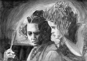 Sweeny Todd and Mrs. Lovette by BlueRose41