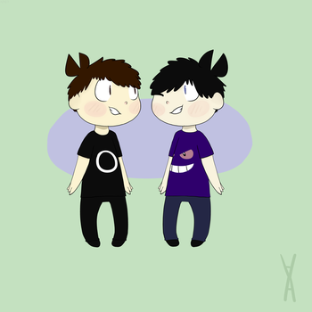 Youtubers | Chibi Dan and Phil by CrazyCatrico49