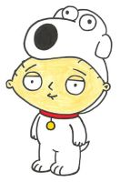 Stewie dressed as Brian by BrianGriffinFan