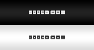 Free PSD: Music Control Buttons by BlakeCeeno