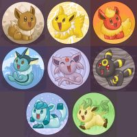 Eeveelutions by TipsyKipsy