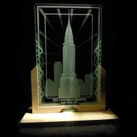 Chrysler Building Etched Glass Display - 2 Layers by ImaginedGlass