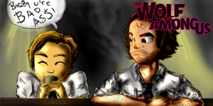 The wolf among us pewpiepie by ciraamy