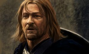 Boromir at Rivendel II by Fleret