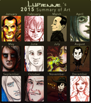 2015 Summary of Art by lupienne