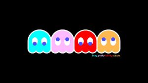 Pacman Ghost Desktop Backgroun by OuterSpice