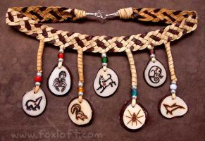 Chakra Totem Necklace by Foxfeather248