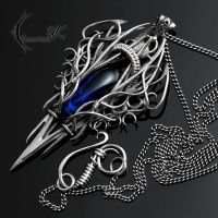 URLZGNAR - silver and cobalt blue quartz by LUNARIEEN