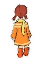 Pigtails and tangerine boots by loffysage