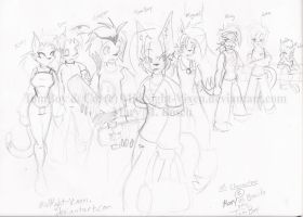 TomBoy N Co. .:Uncolored:. by MidNight-Vixen