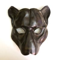 Leather Mask Black Jaguar Leopard Panther by teonova