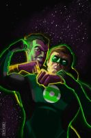Green Lantern v Sinestro by nbashowtimeonnbc