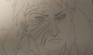 Obito Uchiha (sketch) by BlazingRaz36