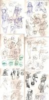 Sketches October '14 by Frey-ofthe-Arcane
