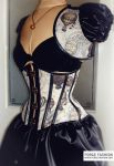 Steampunk Balloon Corset with matching Set by Trinitynavar