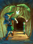 Ocarina of Time - Leaving the forest by Ticcy