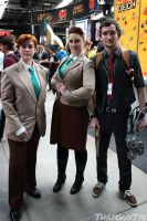Booker Dewitt and the Lutece twins by Kay-Niner-Cosplay