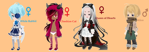 FREE Alice in Wonderland adoptables ~CLOSED by catkerasumae