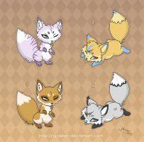 [Closed] Adoptables: Baby Foxes by MySweetQueen