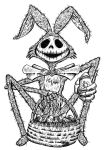 Jack Skellington Easter - Lineart by TCosbyJr
